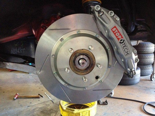 Muellerized RS -                                               Stoptech Trophy Rear Brake                                               - ST-40 Four Piston