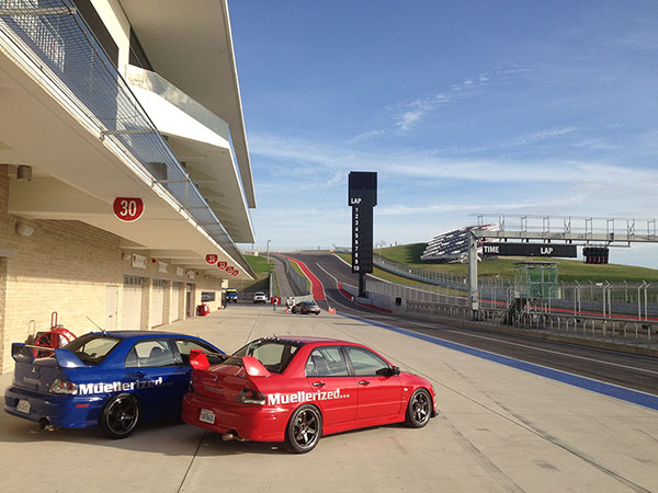 Muellerized Evos run                                               Circuit of the Americas on                                               Feb 1-3, 2013