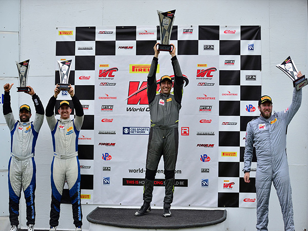 Nicolai Elghanayan storms Lime Rock Park with an impressive first win in his second race weekend of his GTS debut season