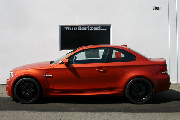 BMW 1M with                                               Muellerized Moton                                               Clubsport Coilovers