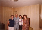 Wanda, Jim, my sister Michelle and Aunt Lynne 1986.