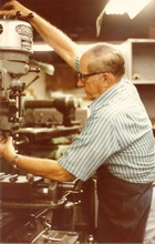 The Master of the milling machine, Jim puts his 60+ years of experience to good use, 1984.