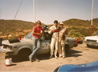 My first SCCA drivers school (back in the days when 2 school weekends were required to achieve a license) had our team of the late Paul McGraith and Jim all pumped up after finishing second in the closed wheel group, Carlsbad Raceway July 1985.