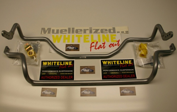 Whiteline Front and                                               Rear Anti-Roll Bars for                                               2009+ Lancer Ralliart