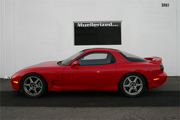 Mazda FD RX-7 with                                               Muellerized Ohlins Road                                               & Track