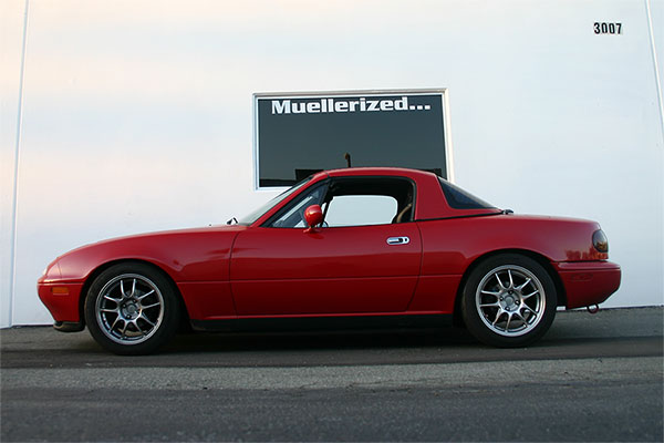 Mazda Miata with                                               Muellerized Ohlins Road                                               & Track
